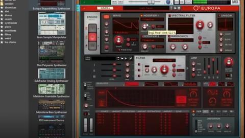 Síntesis y producción con Europa de Reason Studios.