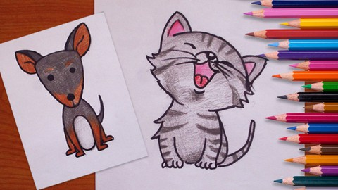 Art For Kids: How to Draw Animals for kids and Beginners