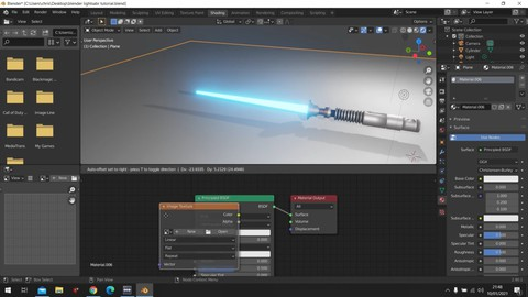 Learn How to make a Lightsaber In blender