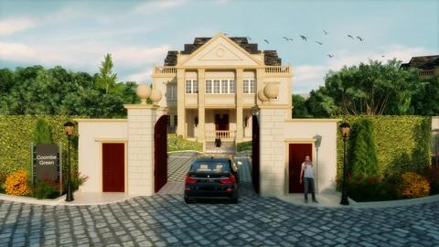 الانيميشن المعماري ماكس و فيراي (المرحله الاولى)