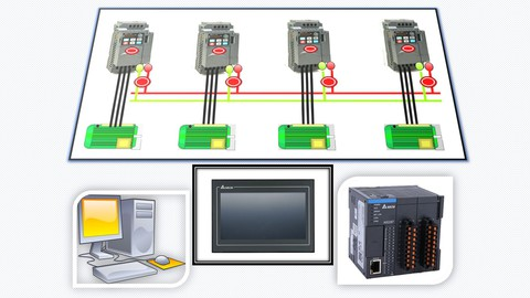 VFD Basics with Real Applications Supported by PLC & HMI