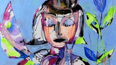 "Acryl Abstraktion. Serie ""Prinzessinnen"""