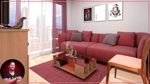 3D Max & Vray: Crea RENDERS interiores 3D FOTORREALISTAS