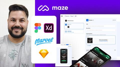Valide sua ideia com protótipo e usuários usando o MAZE!