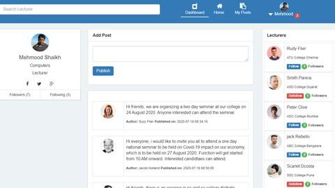 Designing lecturer management system with CodeIgniter & AJAX