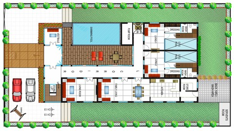 Architecture Design of 1000 sqmt High-end Luxurious Bungalow
