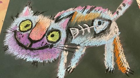 Гениальные характерные коты мягкой пастелью