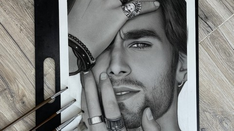 Hyper realistic portrait drawing and shading(human features)