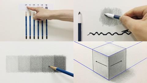 鉛筆デッサン基礎講座(初級)鉛筆デッサンの基礎!の基礎!