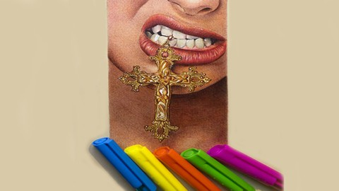 The Ultimate Hyper-real Drawing with Colored Pen