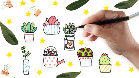 How to Draw Your Own Cute Plants Doodle