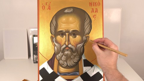 Learn how to paint Byzantine Icons (Part 4)