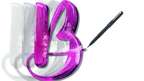 Brush Lettering : Learn to draw letters with brush pens