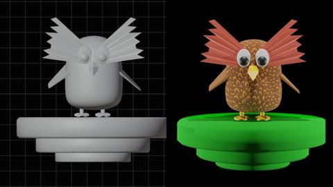 Blender 3D: Let's Modelling an 3D Owl Character with Blender