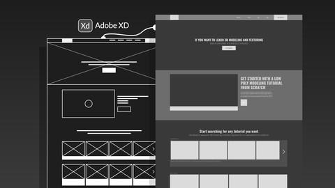 Interactive Website's Landing Page Design - Adobe XD