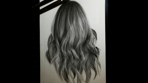hyper realistic drawing from beginner to advanced(draw hair)