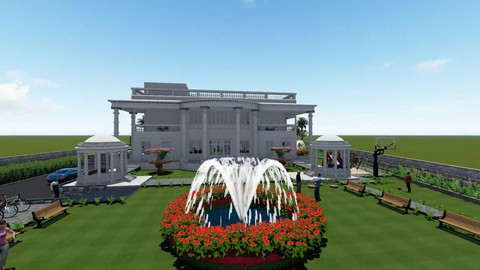 Architecture Planning of 4000 sqmt Luxurious Bungalow