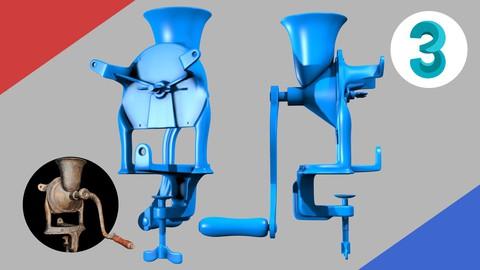 Design de Produtos 3D - Modelagem Moedor de Grãos Antigo