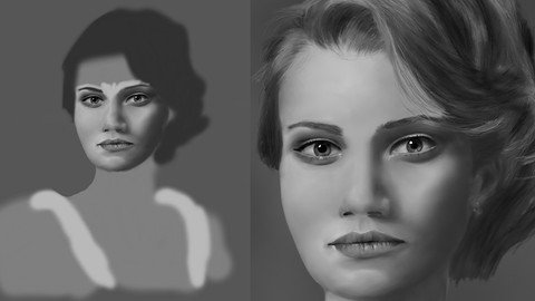 How to Draw a Realistic Digital Portrait of a Woman