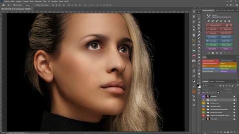 Tratamento de pele/decomposição de frequência no Photoshop.