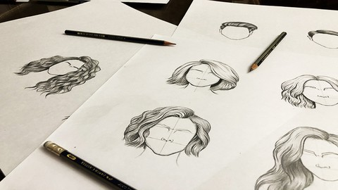 Hairstyle Drawing with Pencil- How to Draw Different Hair