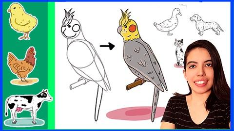 CURSO de DESENHO divertido - Como desenhar ANIMAIS?