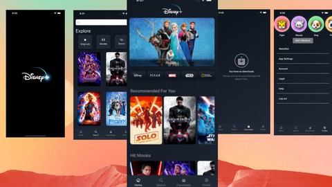Disney Plus Clone in SwiftUI with Remote Url Video Player