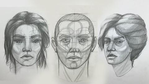 Akademik Kurallar İle Karakalem Portre Çizimi Kursu