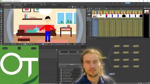 OpenToonz le cours complet pour créer des animations 2D