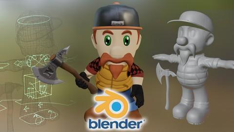 Aprenda Escultura de Personagens 3D e Animação no Blender