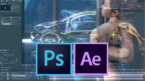 After Effects + Photoshop - 2 cursos completos para você.