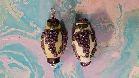 Glass Grape Pendant Bead