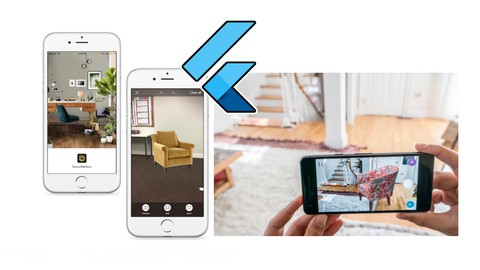 Flutter Augmented Reality AR Furniture App using ARCore