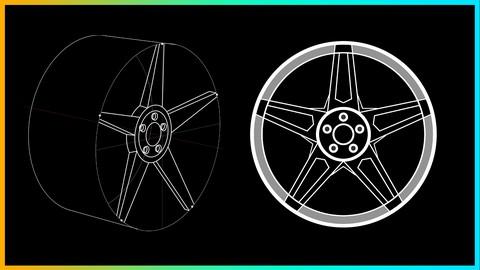 Car/Vehicle Rims Design Course : How to Design Car Rims!