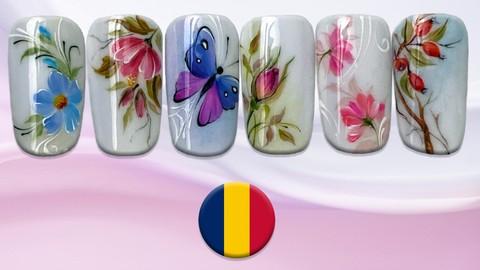 Blooming flowers - Învață să pictezi folosind geluri color