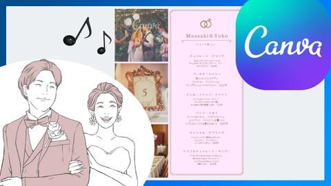 【超初心者向け】3分で作れる結婚式の招待状!業界初可愛い音楽がなるメッセージカードを作成しよう!席次表も作成可能♪