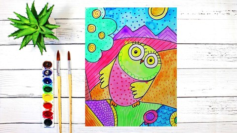 Art for Beginners: Drawing and Watercolor Painting Animals