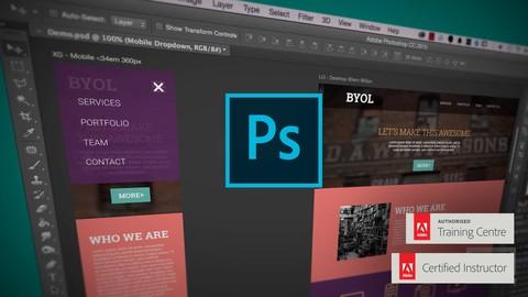 Adobe Photoshop CC - Web Design, Responsive Design & UI