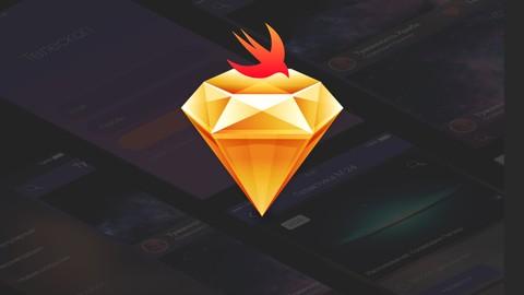 Mobile App Design In Sketch 3  with Swift  بالعربي