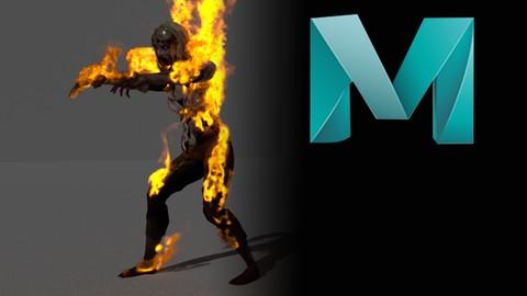 Maya FX_Zombie On Fire