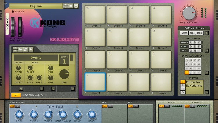Kong Drum Designer de Reason Studios